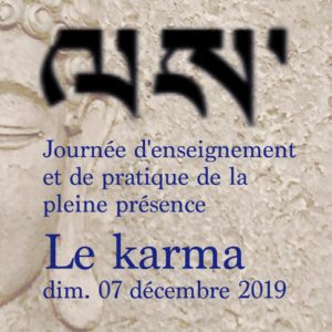 Le Karma - Enseignement - Grasse 12/2019